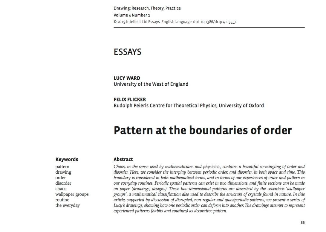 Pattern at the Boundaries of Order copy